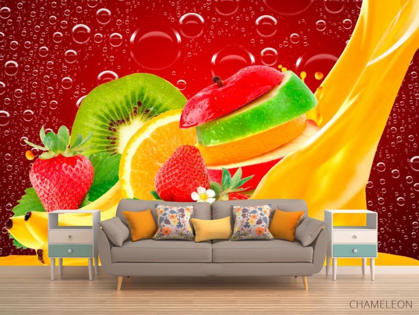 Фотообои Нарезанные фрукты, ягоды - 1