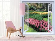 Фотообои Вид на цветы - 4