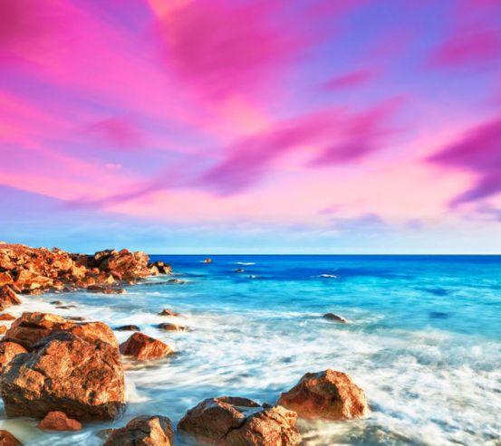 Фотообои Морской берег, камни 7721
