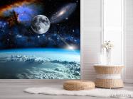 Фотообои космос и луна над олаками - 2