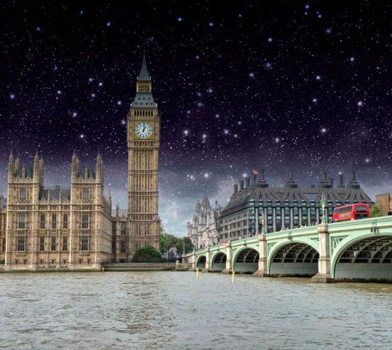 Фотообои Ночной Лондон 8978