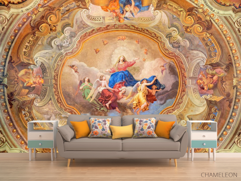 Фотообои Античная фреска на потолок - 1