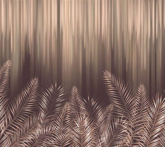 Фотошпалери Коричневі дизайнерські листя 24694