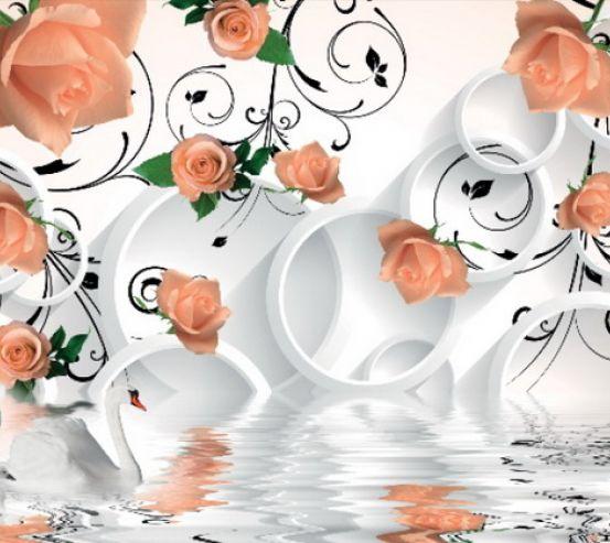 Фотообои 3D розы 17607