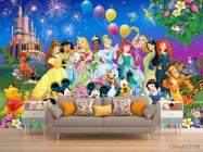 Фотообои Все принцессы у замка - 1