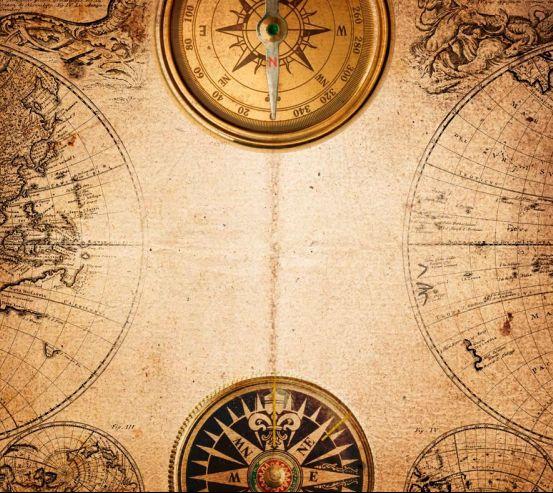 Фотообои Компас и карта мира 0303
