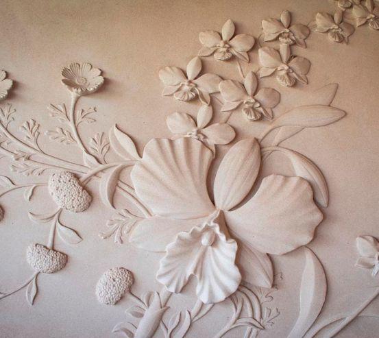 Фотообои Барельефный цветок 18786