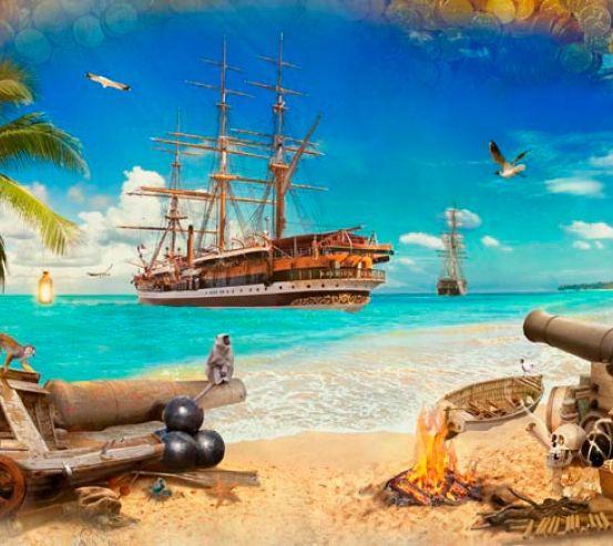 Фотообои Пиратский корабль 16273