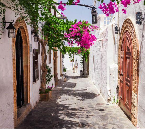 Фотообои Улочка Греции 23161