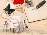 Фотообои в кухню Письмо, цветы - 4