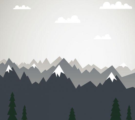 Фотошпалери Векторні гори в дитячу 24075