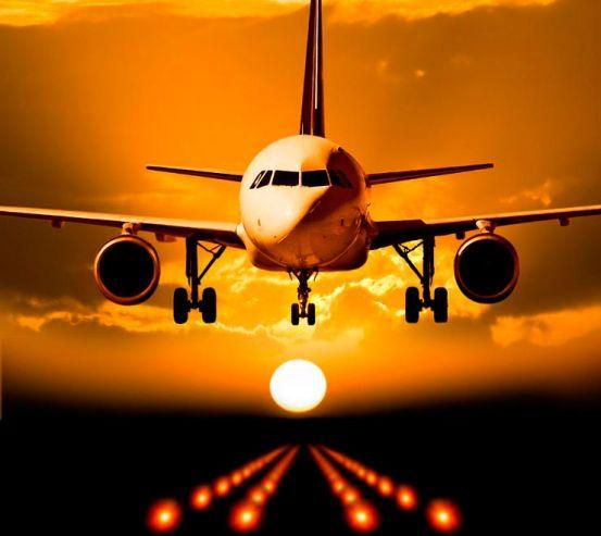 Фотообои Посадка самолета 5945