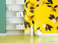 Фотообои желтые с лимоном - 3
