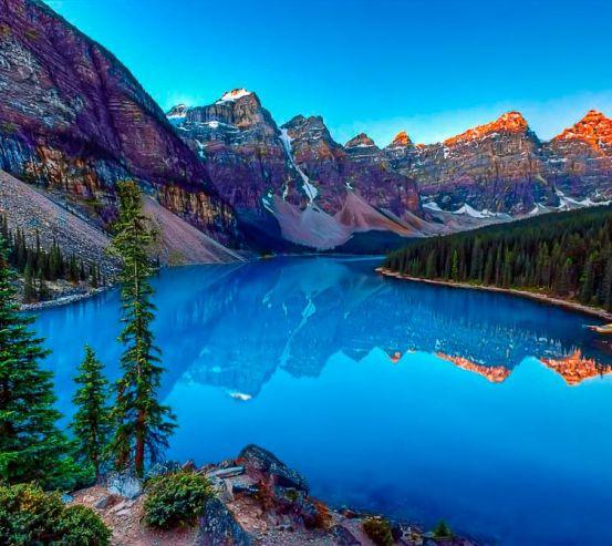 Фотообои Горный уголок, озеро 13977