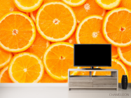 Фотообои Нарезанные апельсины - 2
