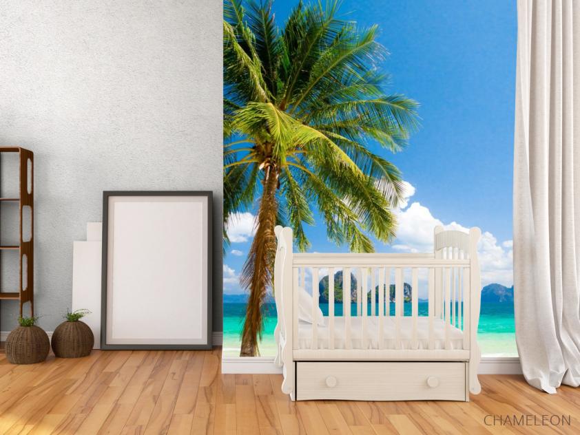 Фотообои пальма на берегу моря - 2