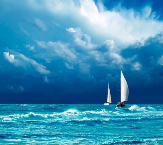 Фотообои Парусники на волнах 5635