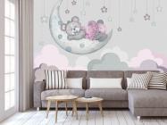 Фотообои Розовый мишка для детской - 3