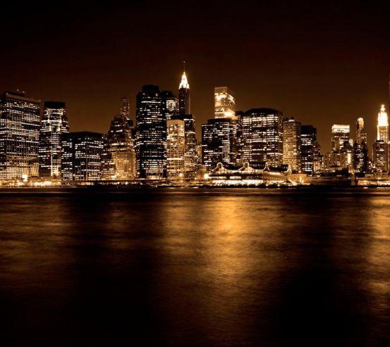 Фотообои Ночь, город, огоньки  5499