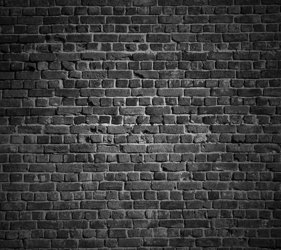 Фотошпалери Чорна стіна з цегли 20240