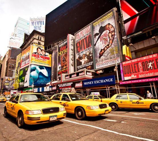 Фотообои Гонконг, реклама, такси 9804
