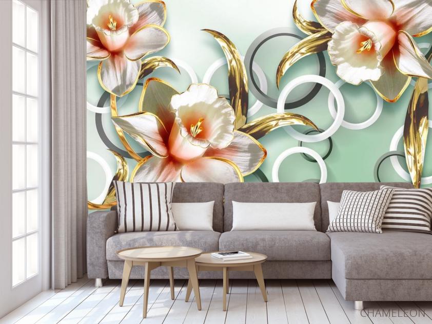 Фотообои 3D цветы  - 3