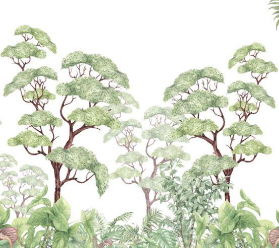 Фотообои Тропические листья 24196