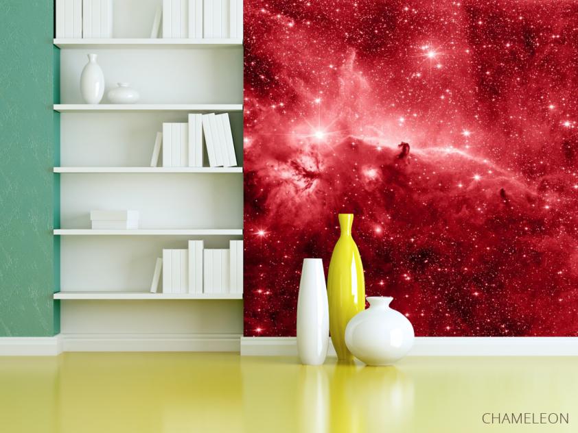 Фотообои красный космос - 3