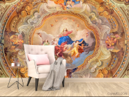 Фотообои Античная фреска на потолок - 4