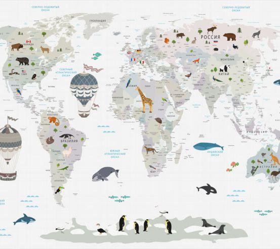 Фотообои Карта в детскую  24131