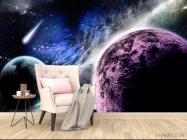 Фотообои Планеты и метеорит - 4