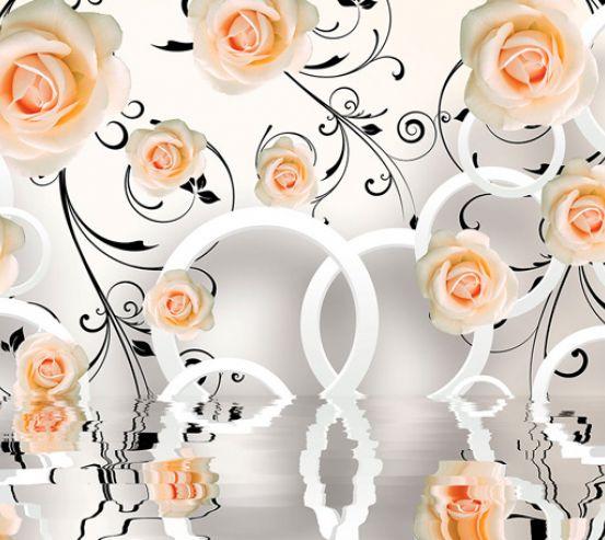Фотообои 3д розы 18127