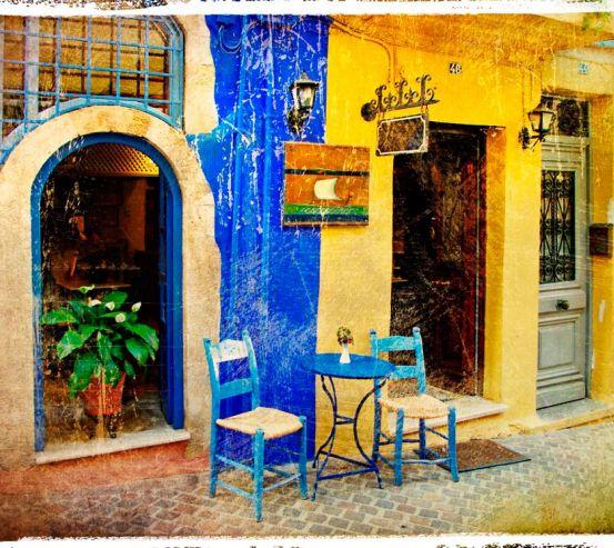 Фотообои Улица в Греции 0057