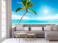 Фотообои Пальма, солнце, пляж - 3