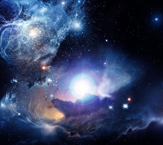 Фотообои космос с яркой звездой 20294