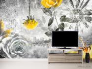 Фотообои 3d цветочная композиция - 2