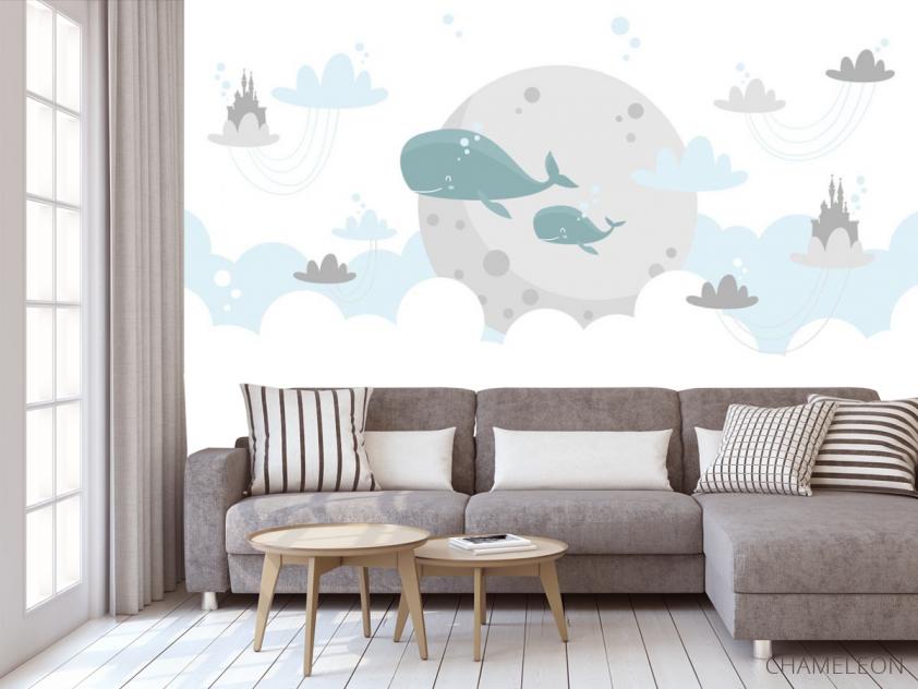 Фотообои Милые киты - 3