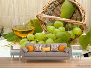 Фотообои зеленый виноград - 1