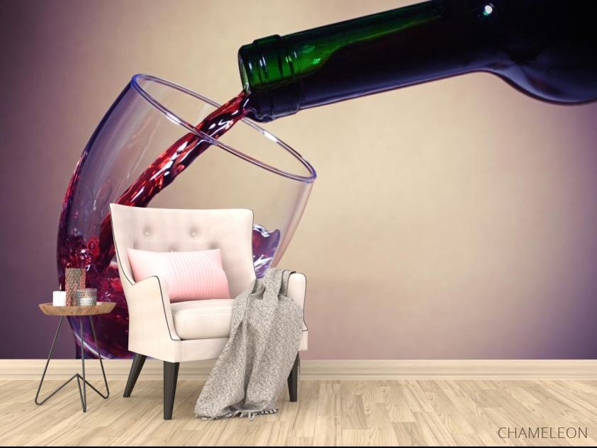 Фотообои красное вино в бокал - 4