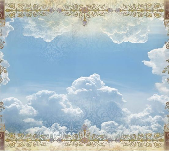 Орнамент и небо для потолка 22513