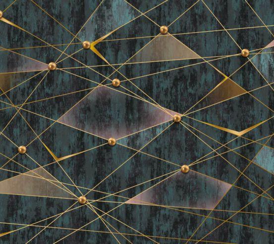 Фотошпалери Геометрія бірюзова 24940