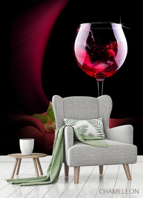 Фотообои красное вино и роза - 3