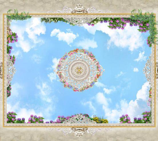 Фотообои Потолочные фотообои фреска 22527