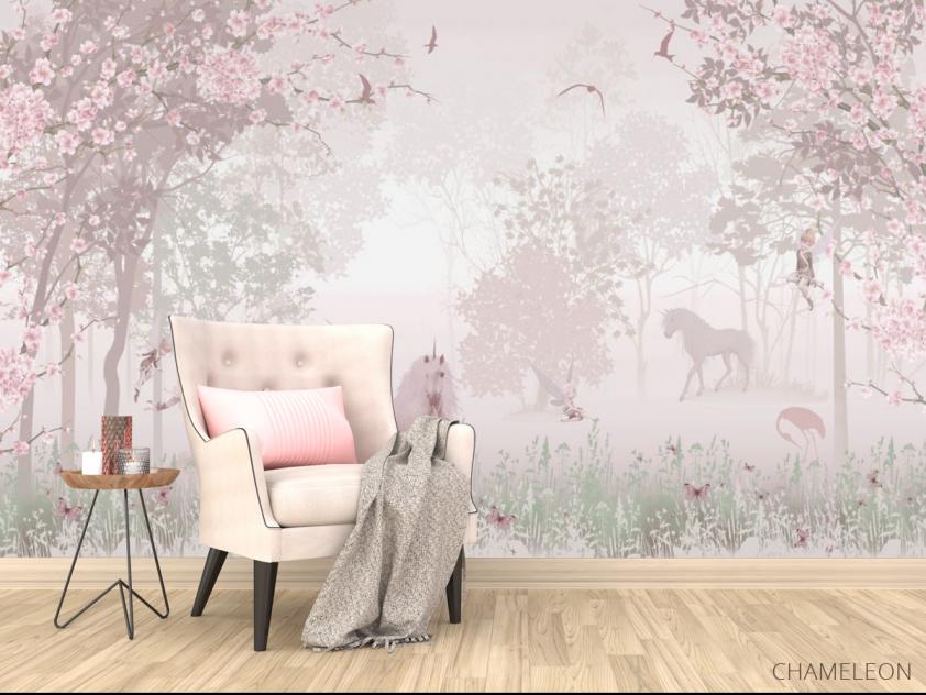 Фотообои Розовые единороги - 4