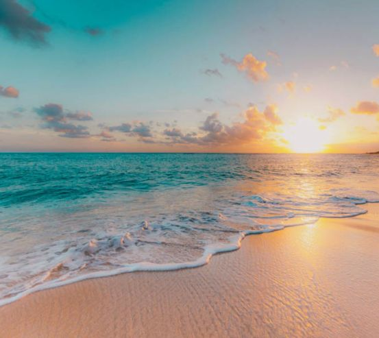 Фотообои Морской закат на пляже 27976