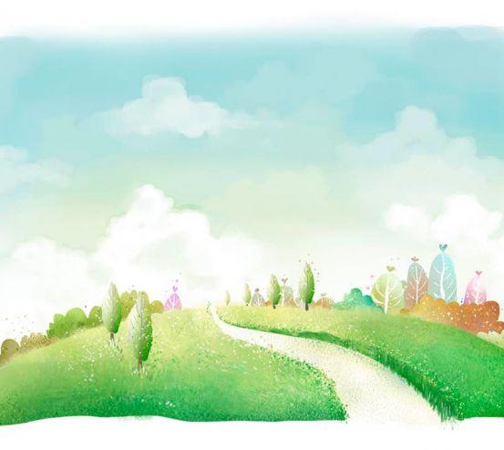 Фотообои Сказочный пейзаж 7897