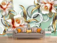 Фотообои 3D цветы  - 1