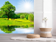 Фотообои Солнце, вода, дерево - 2