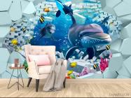 Фотообои 3д дельфины - 4