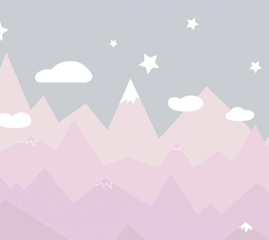 Фотообои Розовые горы 24016